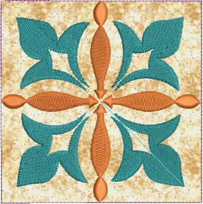Moroccan Tile Quilt-14