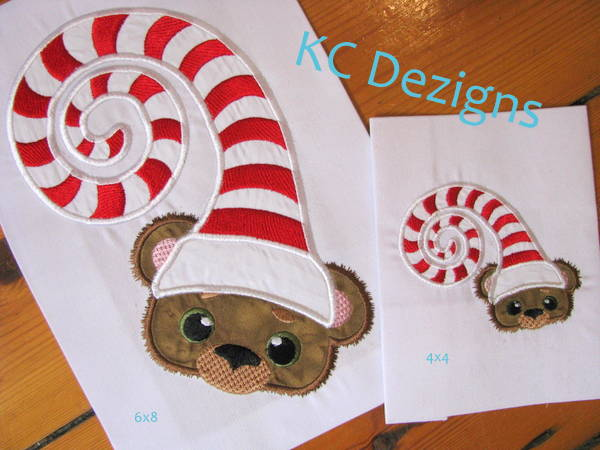 Christmas Critter Bear With Sleeping Hat