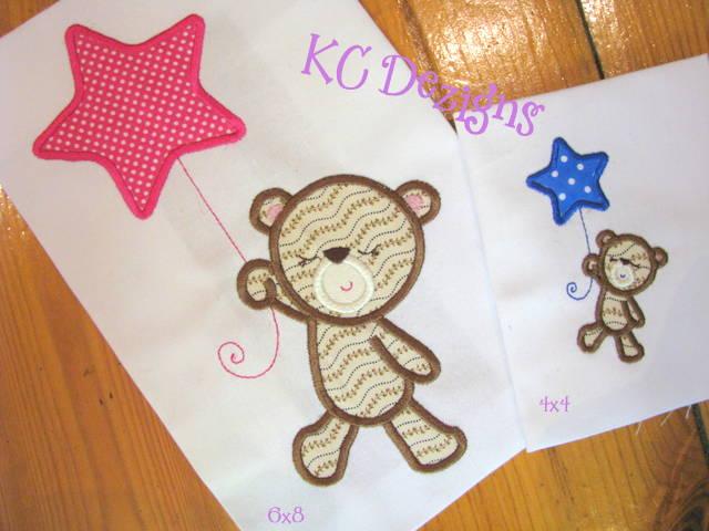 Baby Girl Bear With Star Balloon