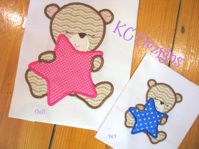 Baby Girl Bear With Stars