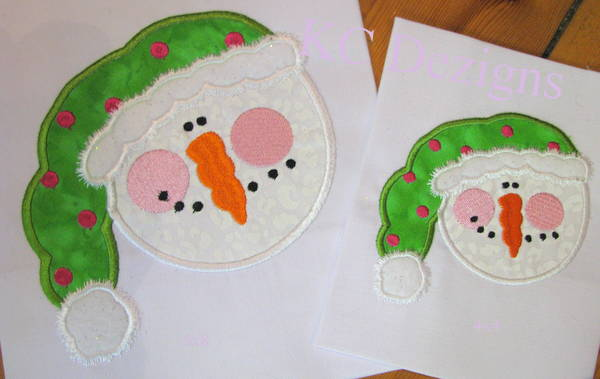 Snowman Face With Green Hat