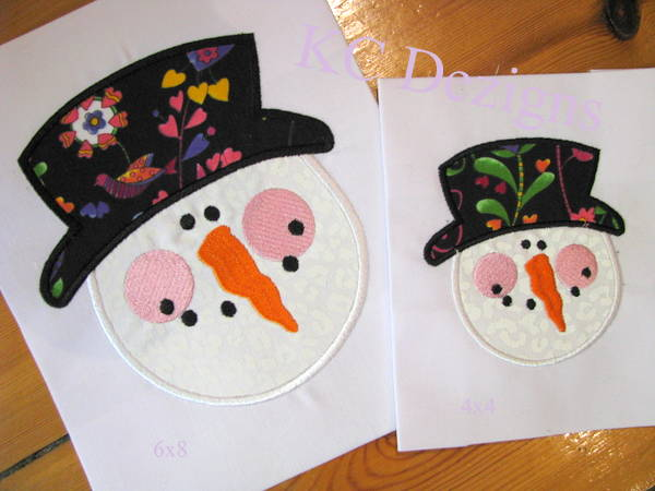 Snowman Face With Top Hat
