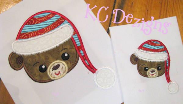 Christmas Teddy Bear Face