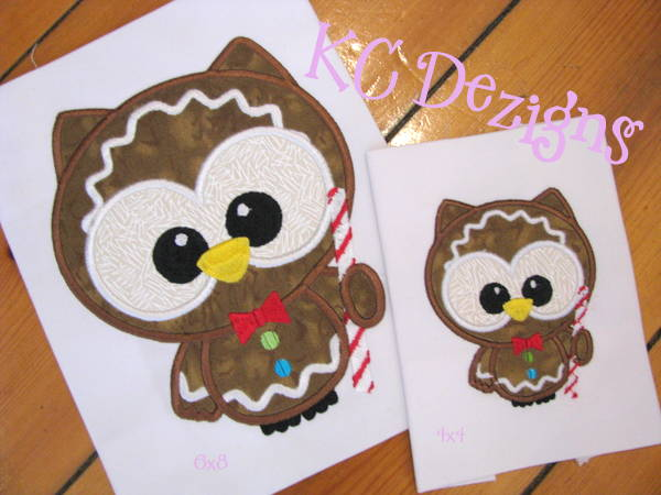 Cute Christmas Owl With Candy Cane