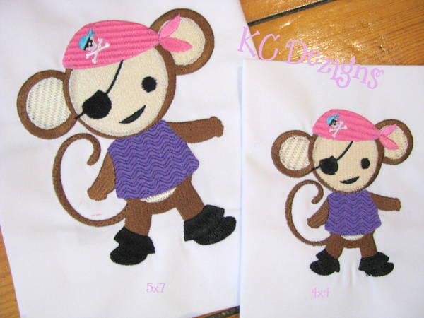 Pirate Girl Monkey