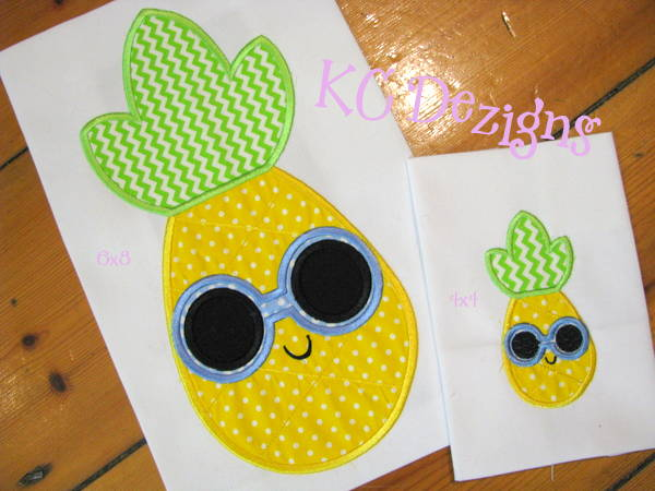 Pineapple With Round Sunglasses
