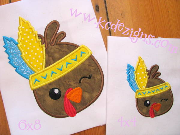 Boy Turkey With Feathers