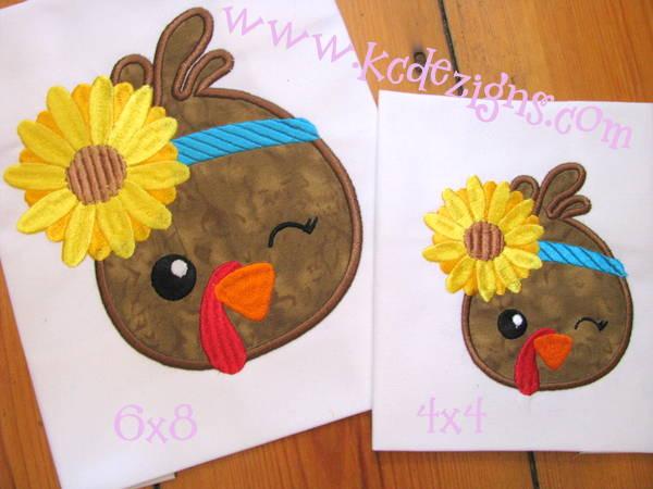 Girl Turkey With Flower