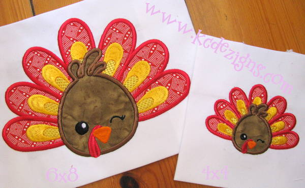 Turkey Face With Feathers