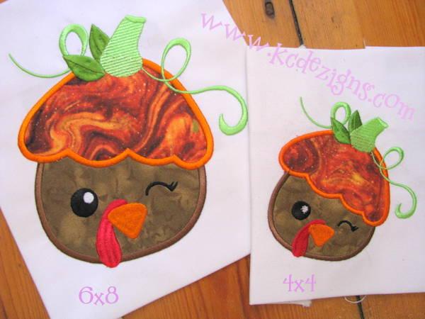 Turkey with Pumpkin Hat