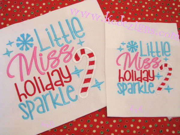 Little Miss Holiday Sparkle