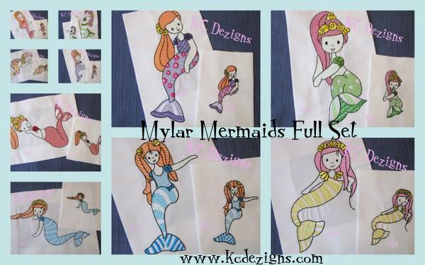 Mylar Mermaids Full Set
