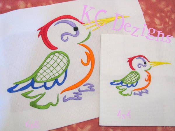 Outline Hummingbird 09
