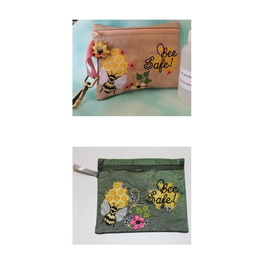 Bee Safe Zipper Bag