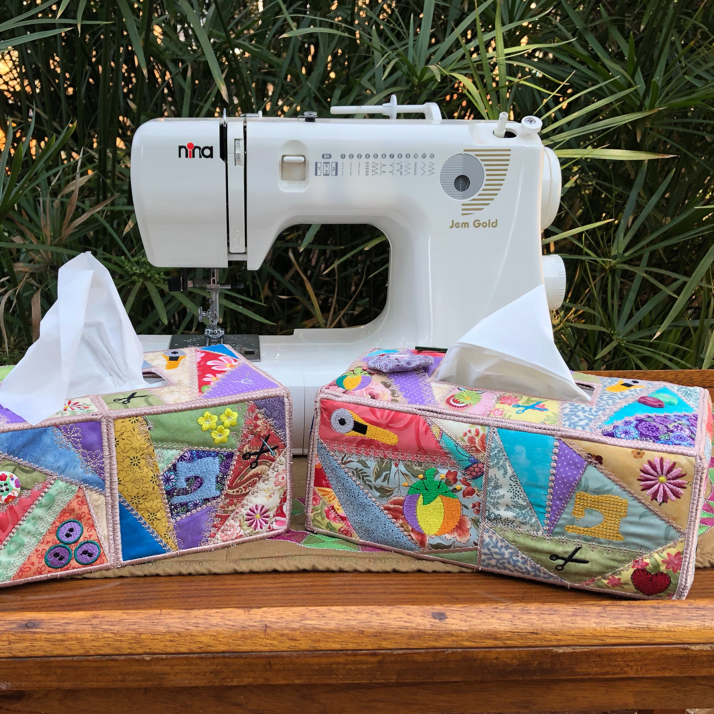 Crazy Patch Tissue Box Cover-3