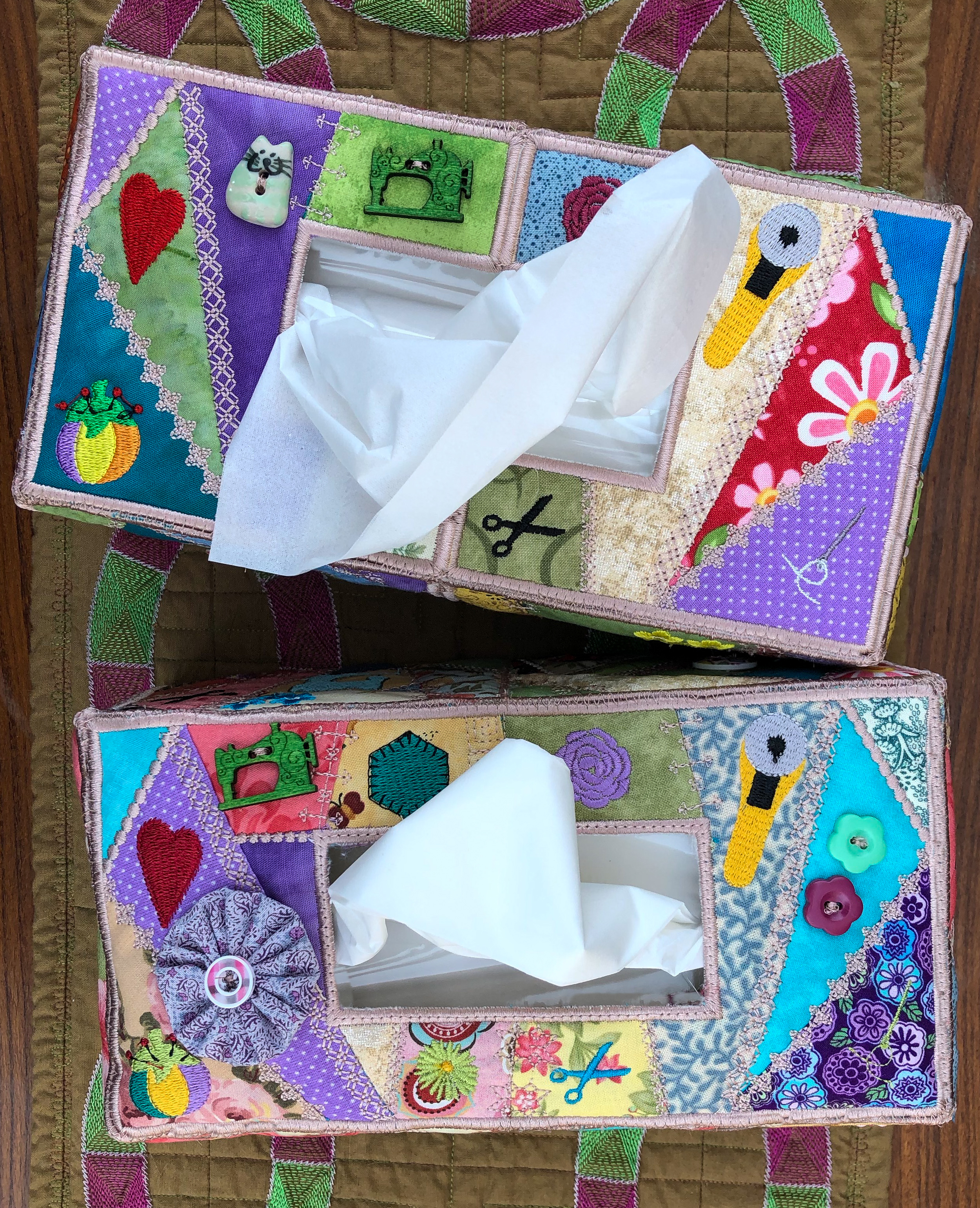 Crazy Patch Tissue Box Cover-4