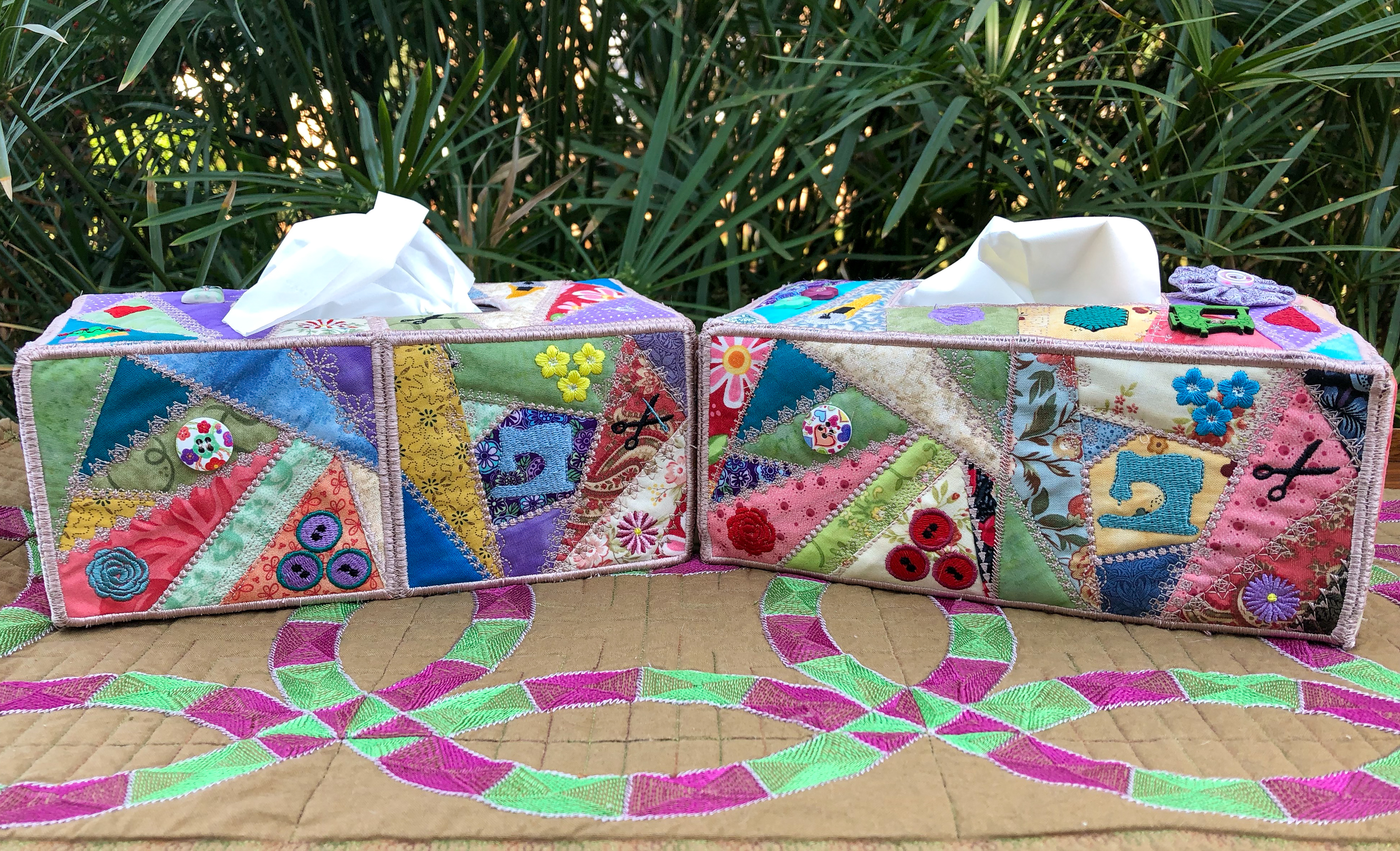 Crazy Patch Tissue Box Cover-5