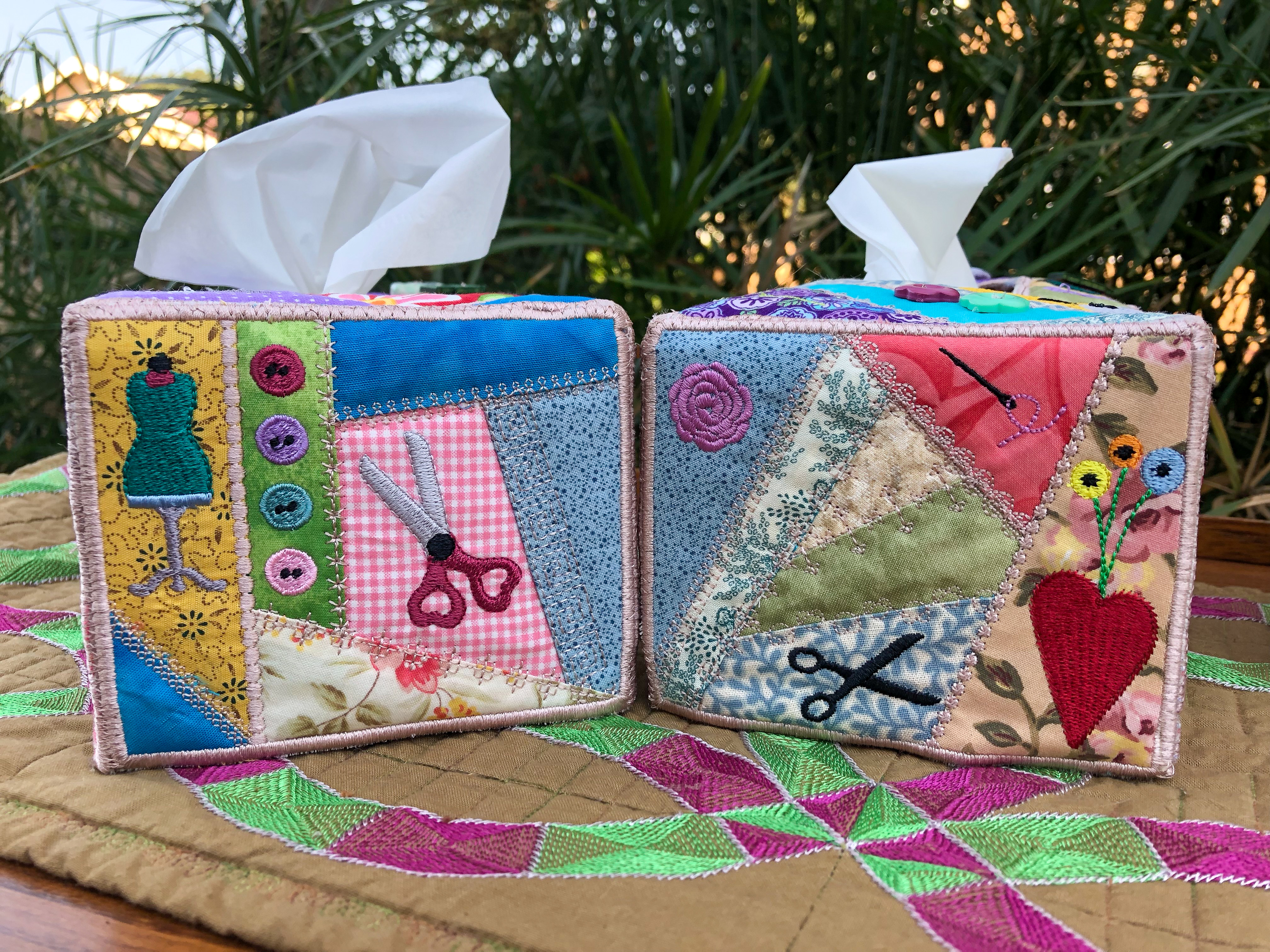 Crazy Patch Tissue Box Cover-6