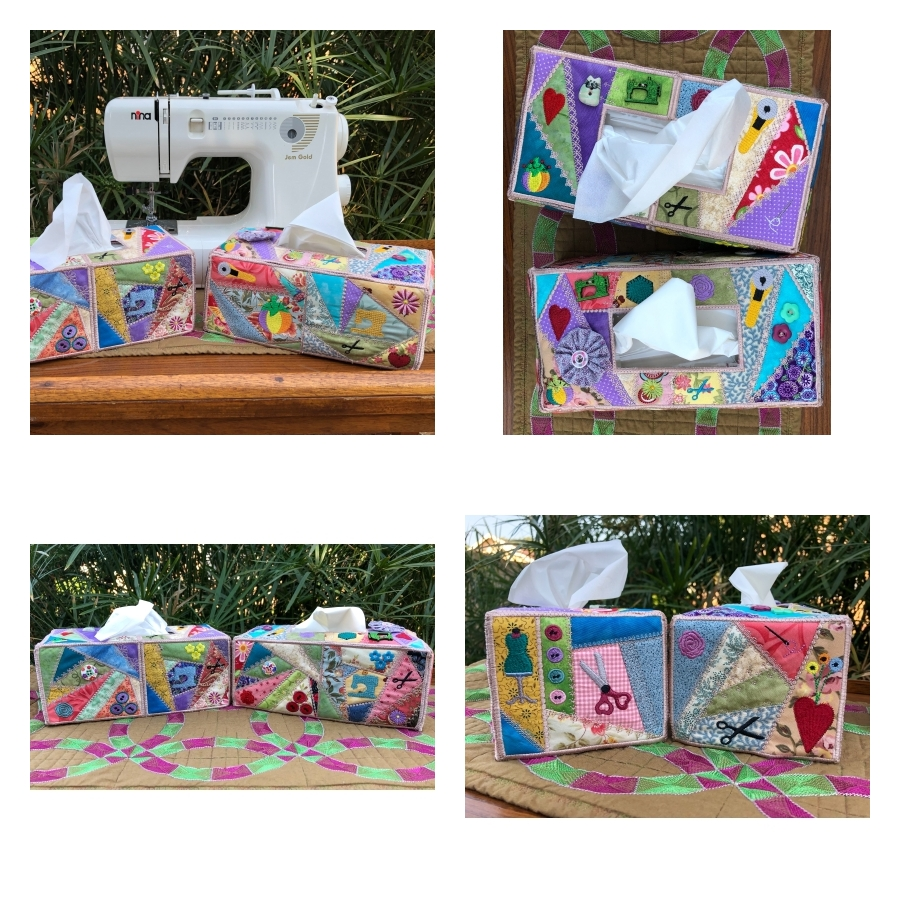 Crazy Patch Tissue Box Cover