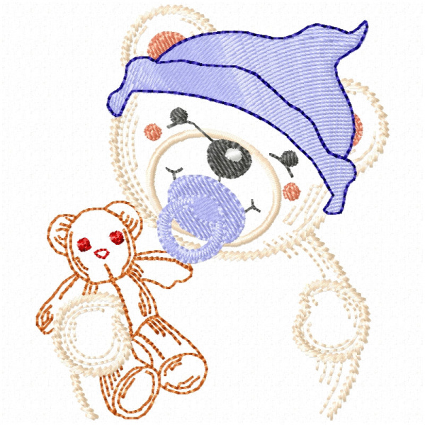 Baby Polar Bear & Blankie In A Bag Project-12