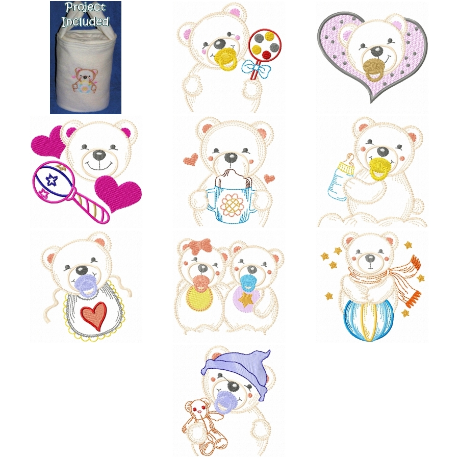 Baby Polar Bear & Blankie In A Bag Project