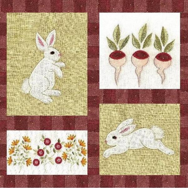 Bunny Garden Applique