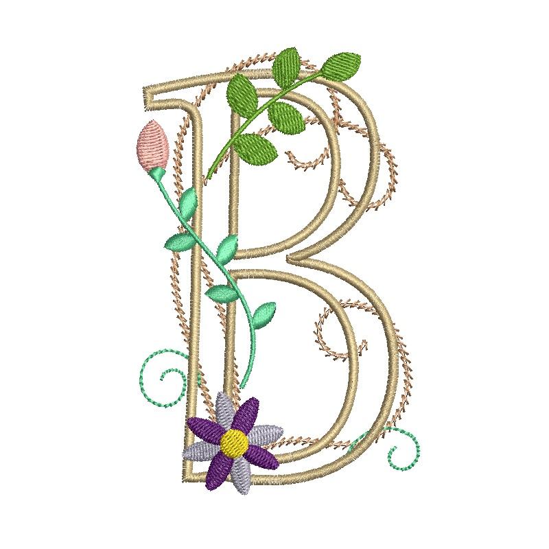 Floral Alphabet-5