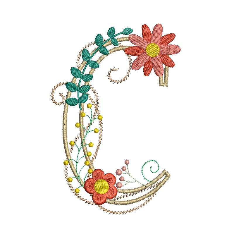 Floral Alphabet-6