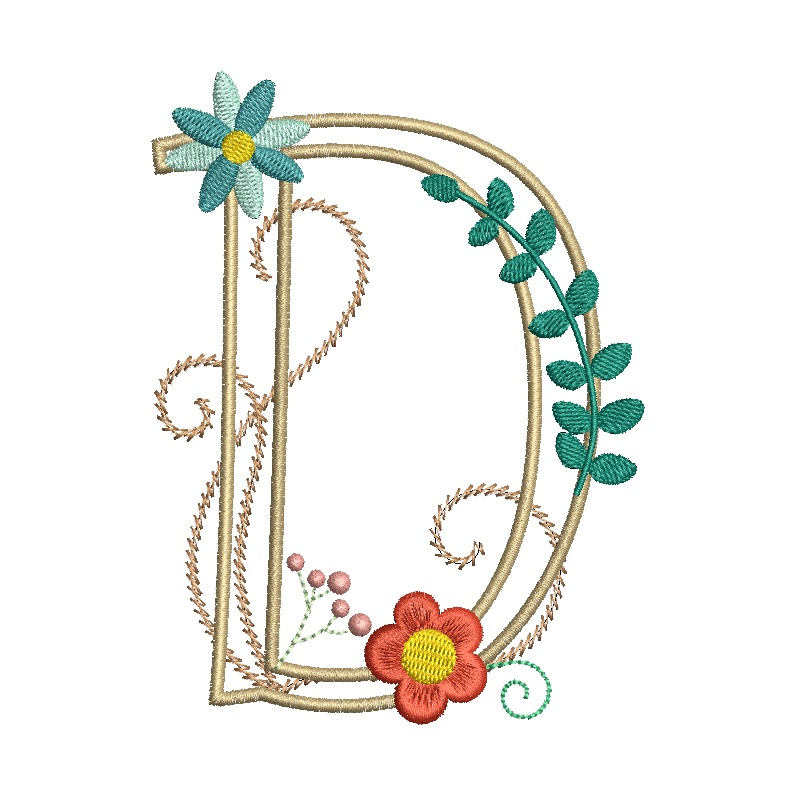 Floral Alphabet-7