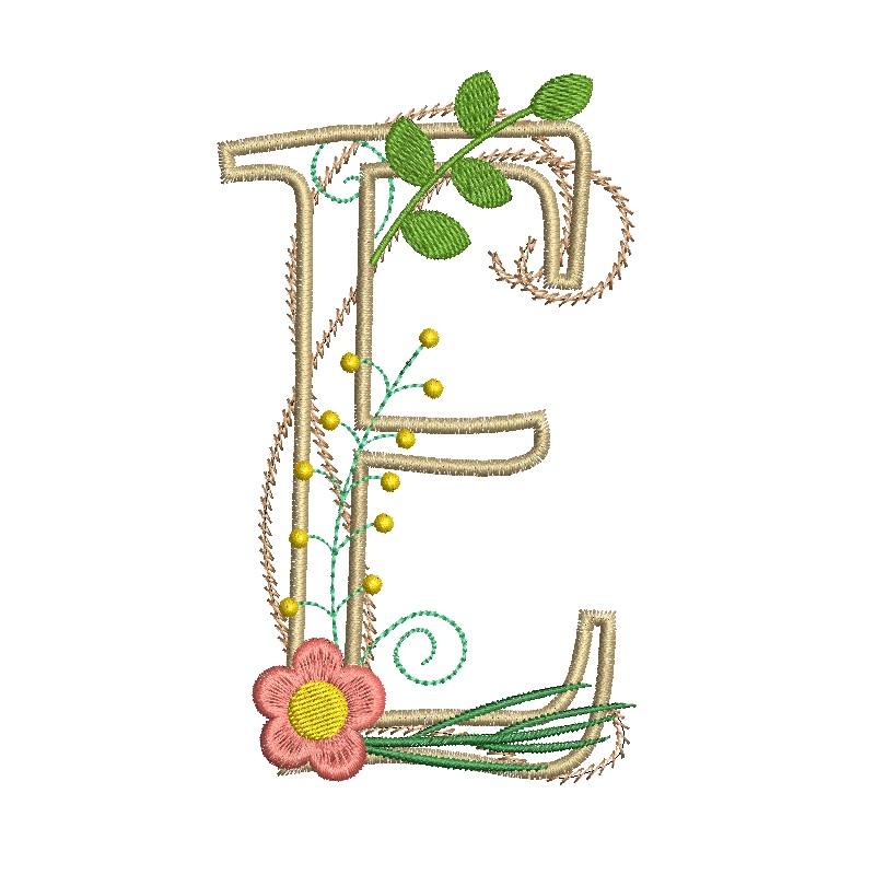 Floral Alphabet-8