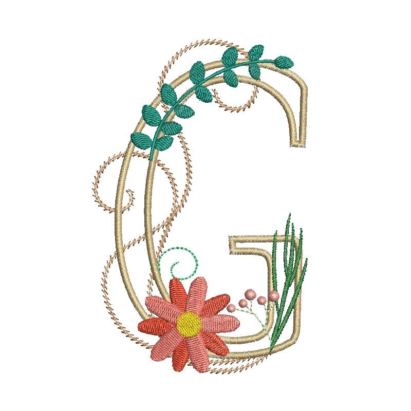 Floral Alphabet-10