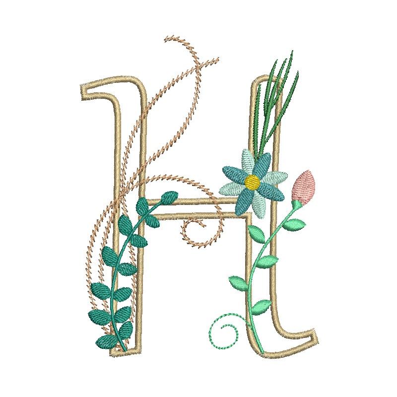 Floral Alphabet-11