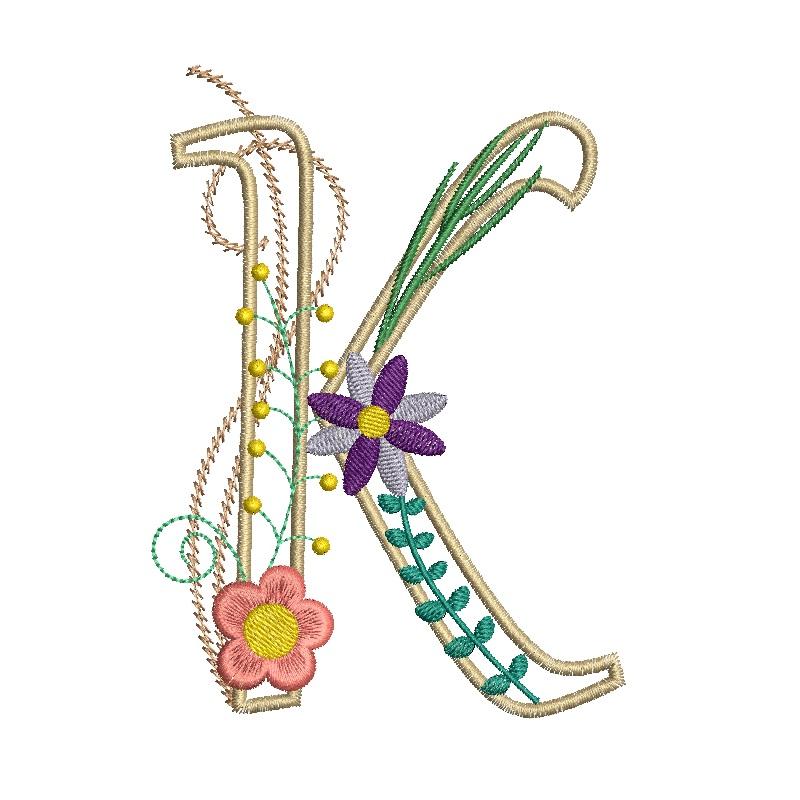 Floral Alphabet-14