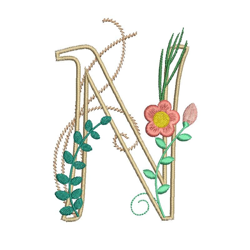 Floral Alphabet-17