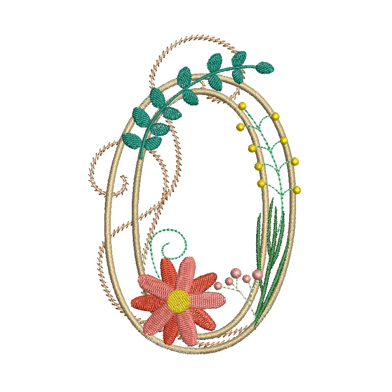 Floral Alphabet-18