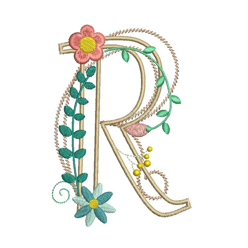 Floral Alphabet-21
