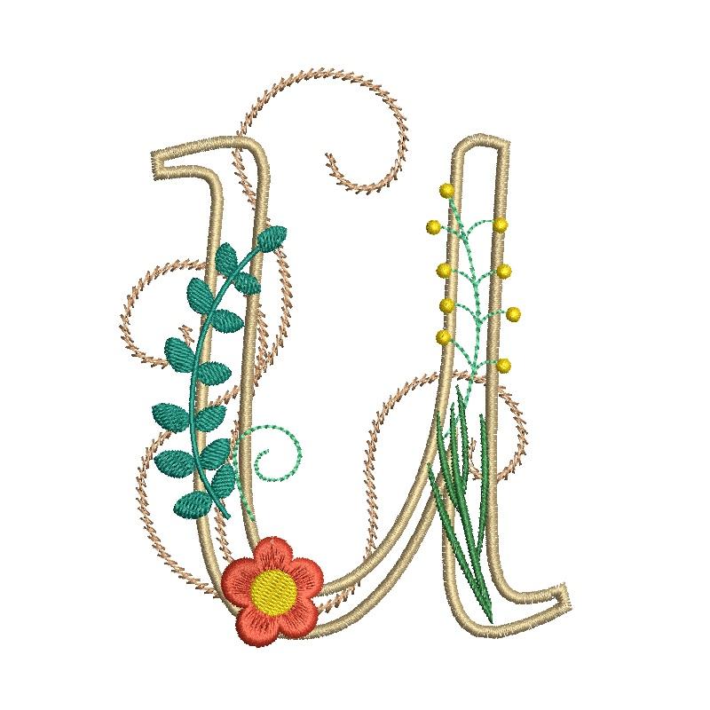 Floral Alphabet-24