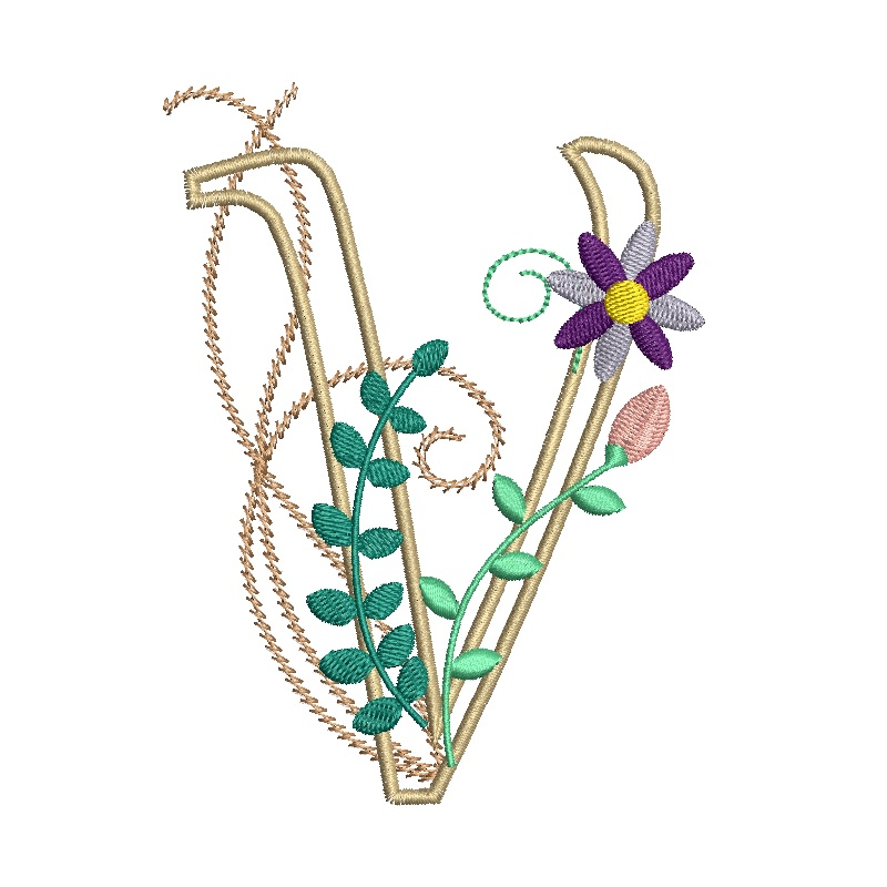 Floral Alphabet-25