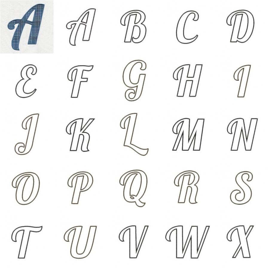 Annes Applique Alphabet