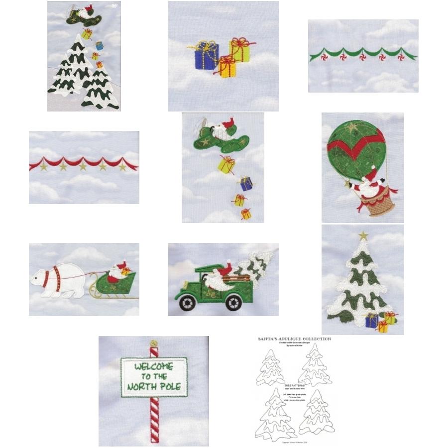 Santas Applique Collection