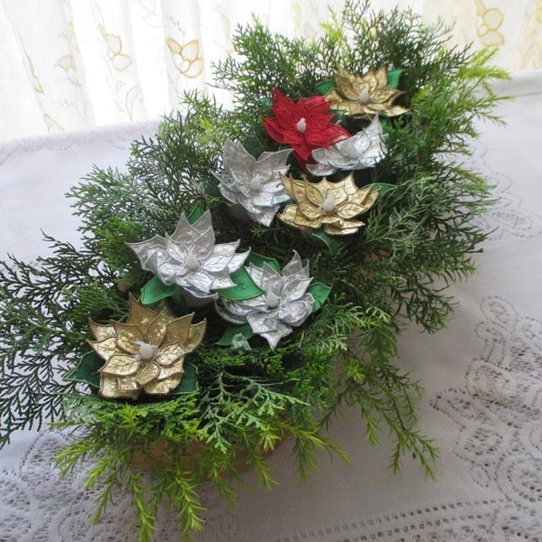 Poinsettia Tealights-5