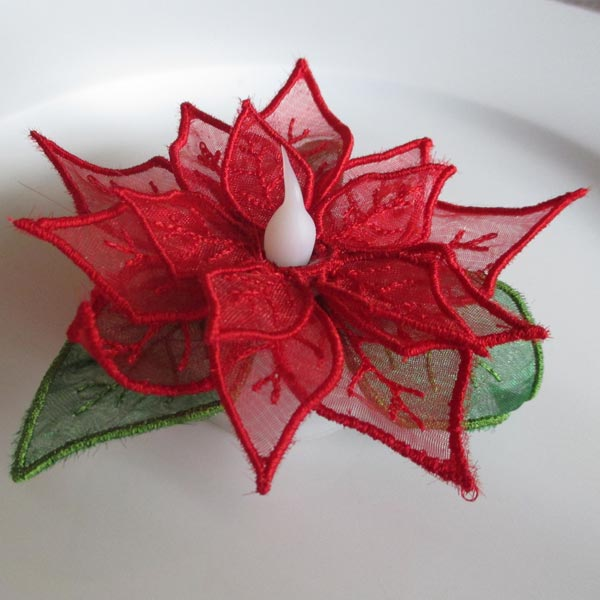 Poinsettia Tealights-6