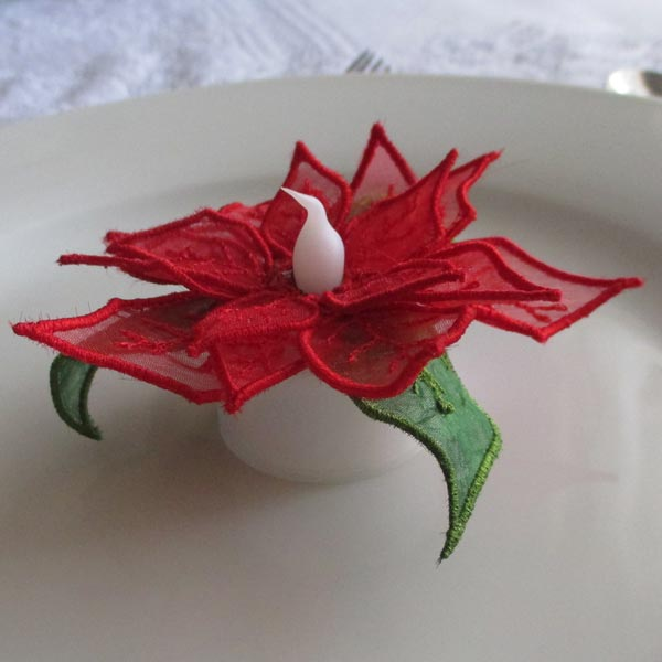 Poinsettia Tealights-8