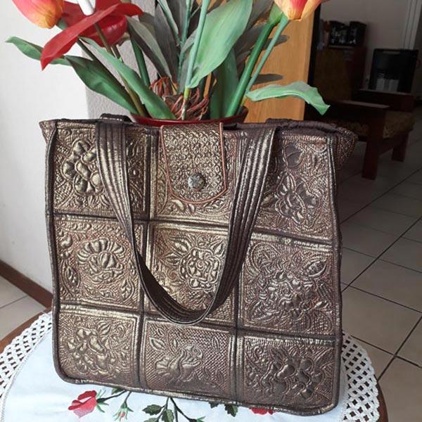 Trapunto Rose Bag -3