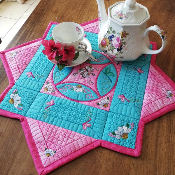 Cathedral Window Table Mat-3