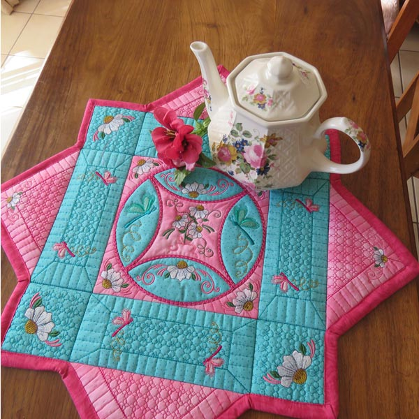Cathedral Window Table Mat-10