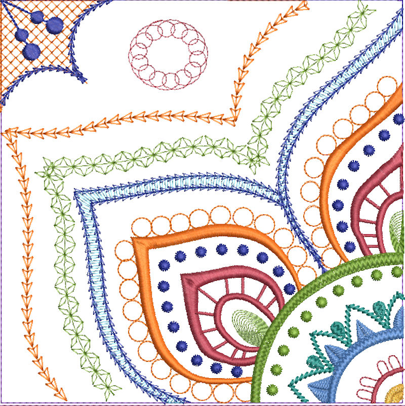 Mandala Quilt Blocks3-6