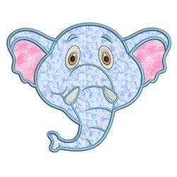 Applique Animal Faces Elephant