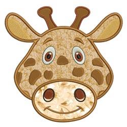 Applique Animal Faces Giraffe