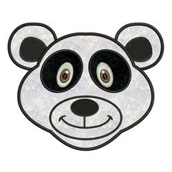 Applique Animal Faces Panda